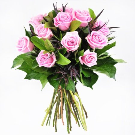 Bouquet of 12 Light Pink Roses