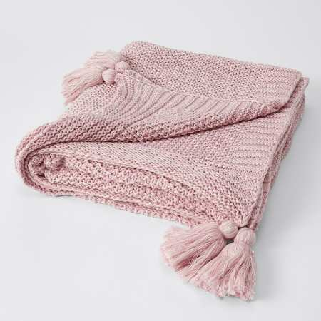 Soft Knitted Throw Blanket