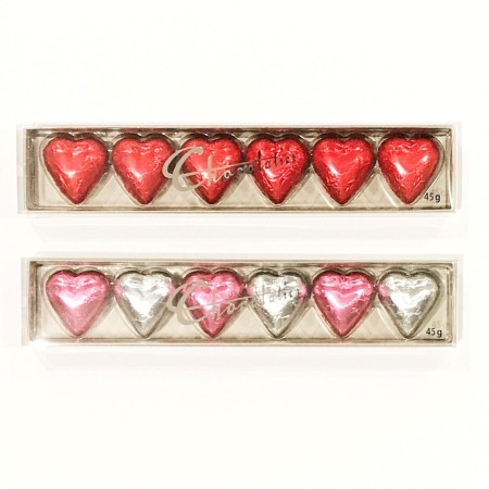 Chocolatier 6 Pack Hearts
