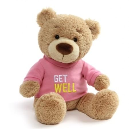Get Well Soon Bear Pink