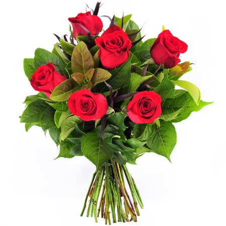 Bouquet of 6 Red Roses (RB6)
